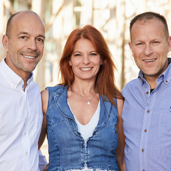Die drei Geschäftsführer des berliner team